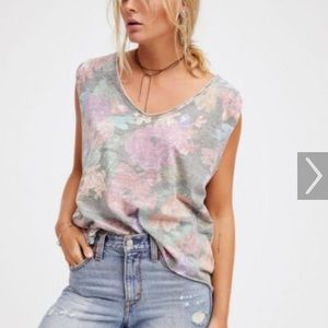 NWT Free People Tropical Combo Tank Top.